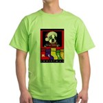MERRY CHRISTMAS BOSTON TERRIER LOOK Green T-Shirt