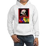 MERRY CHRISTMAS BOSTON TERRIER LOOK Hooded Sweatsh