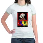 MERRY CHRISTMAS BOSTON TERRIER LOOK Jr. Ringer T-S