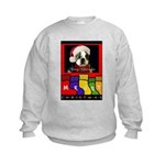 MERRY CHRISTMAS BOSTON TERRIER LOOK Kids Sweatshir