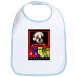 MERRY CHRISTMAS BOSTON TERRIER LOOK Bib