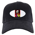 MERRY CHRISTMAS BOSTON TERRIER LOOK Black Cap