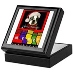 MERRY CHRISTMAS BOSTON TERRIER LOOK Keepsake Box