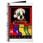 MERRY CHRISTMAS BOSTON TERRIER LOOK Journal