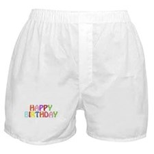 Colorful Happy Birthday Boxer Shorts