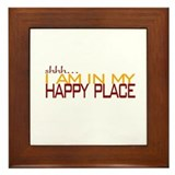 Happy Place Framed Tile