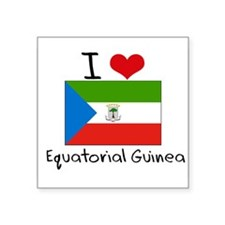 I HEART EQUATORIAL GUINEA FLAG Sticker