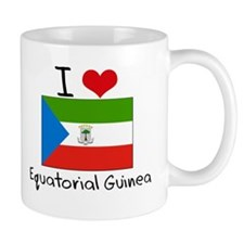 I HEART EQUATORIAL GUINEA FLAG Coffee Mug