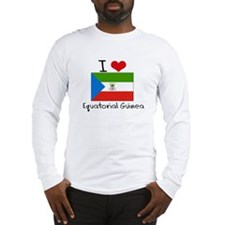 I HEART EQUATORIAL GUINEA FLAG Long Sleeve T-Shirt