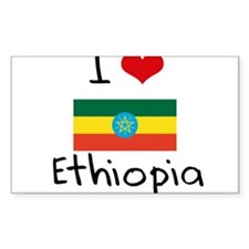 I HEART ETHIOPIA FLAG Decal