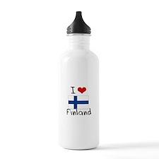 I HEART FINLAND FLAG Water Bottle