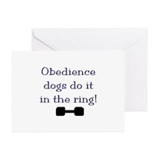 obedience dogs do it in Greeting Cards (Pk of 10)