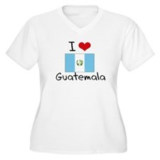 I HEART GUATEMALA FLAG Plus Size T-Shirt
