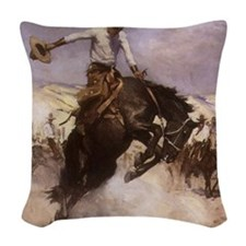 Breezy Riding by Koerner Woven Throw Pillow