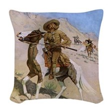 The Scout by Remington Woven Throw Pillow