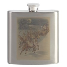 Vintage Christmas Santa Claus Flask