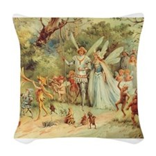 Vintage Thumbelina Woven Throw Pillow