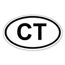 Connecticut Oval Decal
