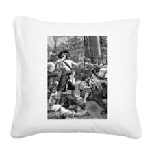 Vintage Pirates Square Canvas Pillow