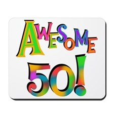 Awesome 50 Birthday Mousepad