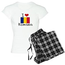 I HEART ROMANIA FLAG Pajamas