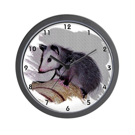 Baby Possum Wall Clock