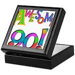 Awesome 90 Birthday Keepsake Box