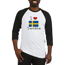 I HEART SWEDEN FLAG Baseball Jersey