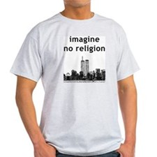 Imagine No Religion Ash Grey T-Shirt