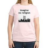 Imagine No Religion Women's Pink T-Shirt