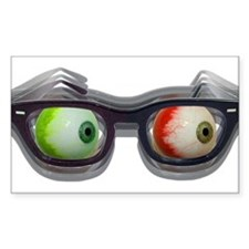 Look Out! Bloodshot Eyebal Glasses Decal