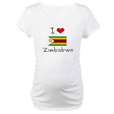 I HEART ZIMBABWE FLAG Shirt