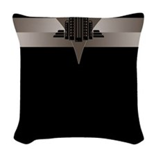 Black and Bronze Art Deco Tower Woven Throw Pillow
