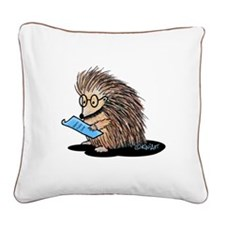 Warm Fuzzy Porcupine Square Canvas Pillow