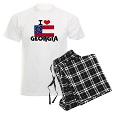 I HEART GEORGIA FLAG Pajamas