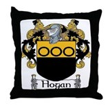 Hogan Coat of Arms Throw Pillow