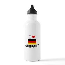 I HEART GERMANY FLAG Water Bottle