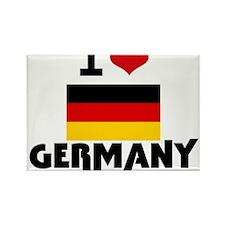 I HEART GERMANY FLAG Rectangle Magnet