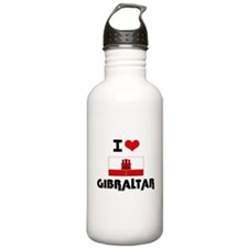 I HEART GIBRALTAR FLAG Water Bottle
