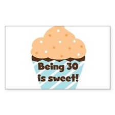 Cupcake Sweet 30th Birthday Decal