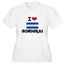 I HEART HONDURAS FLAG Plus Size T-Shirt