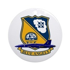 F-18 Blue Angels Ornament (Round)