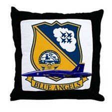 F-18 Blue Angels Throw Pillow