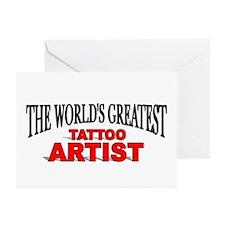 """The World's Greatest Tattoo Artist"" Greeting Card"