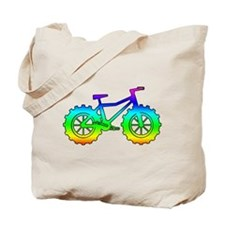 fat tire logo reinbow Tote Bag