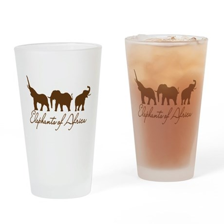 Elephants of Africa Drinking Glass