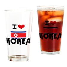 I HEART KOREA FLAG Drinking Glass