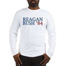 Reagan Bush '84 Long Sleeve T-Shirt