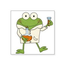 Frog Scientist Sticker