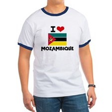 I HEART MOZAMBIQUE FLAG T-Shirt